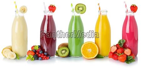 sammlung von fruchtsaftsaeften trinken getraenke getraenkeflaschen