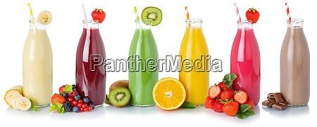 sammlung von fruchtsaftsaeften getraenke getraenke milchshake