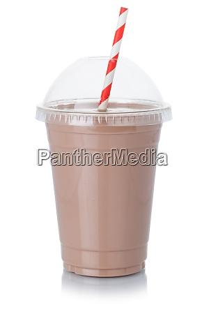 schokoladenmilch shake milchshake in einer tasse