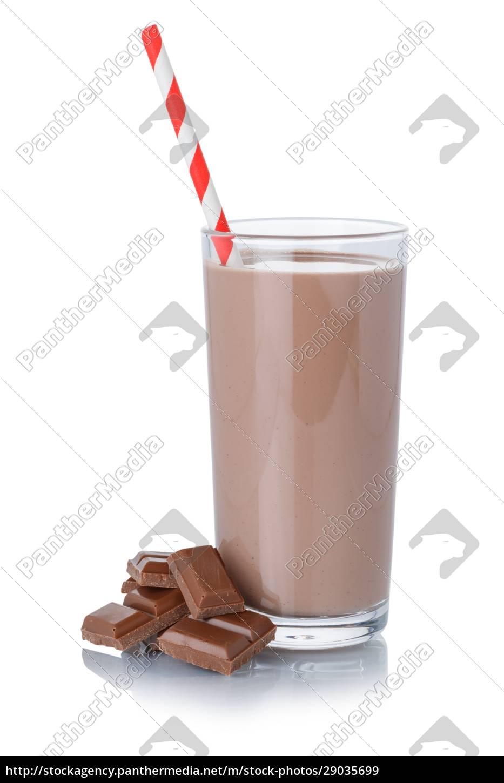 schokoladenmilch, shake, milchshake, in, einem, glas - 29035699