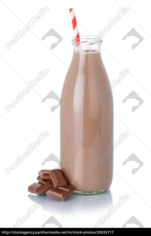 schokoladenmilch, shake, milchshake, in, einer, flasche - 29035717
