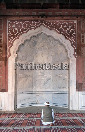 people, praying, at, the, jama, masjid - 29040343