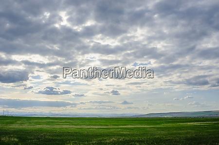 praerielandschaft mit bergen in der ferne
