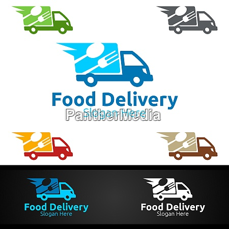fast food delivery service logo fuer