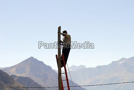 telefonkabel in patagonien argentinien