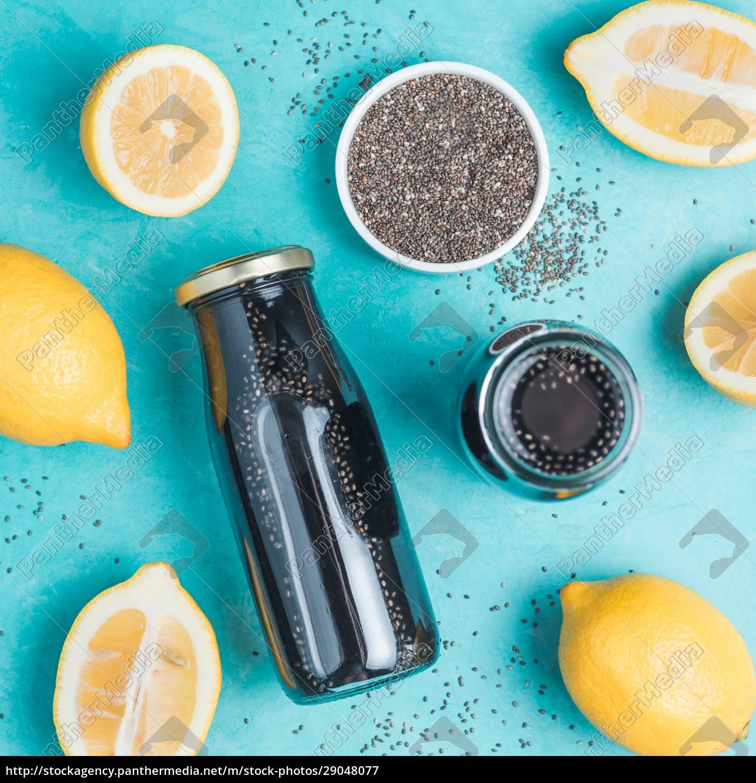 detox, activated, charcoal, black, chia, lemon - 29048077