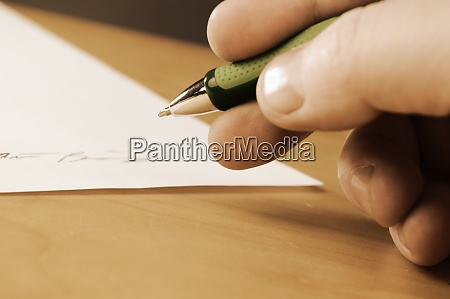 signieren des dokuments