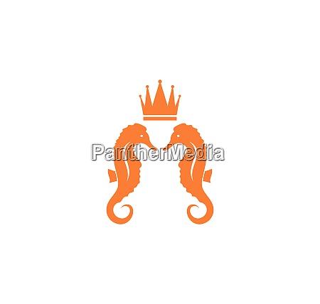 seepferdchen vektor symbol illustration design