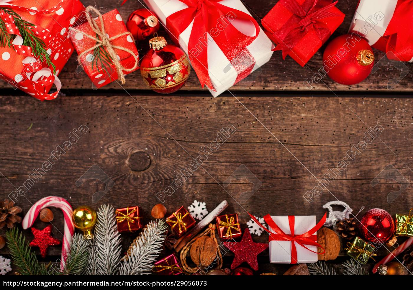 handgemachte, gewickelt, weihnachts-geschenk-boxen, auf, feiern, hintergrund. - 29056073