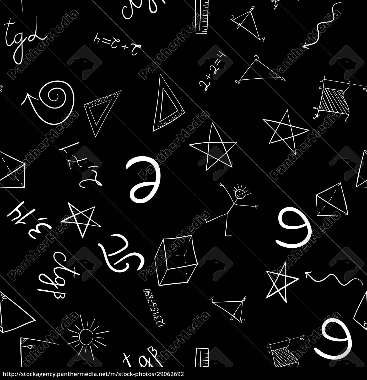 abstrakte, schule, doodles, nahtlose, muster - 29062692