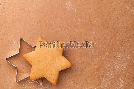 hausgemachte lebkuchen cookie star und cookie