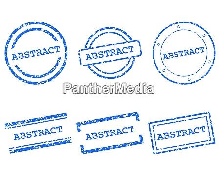 abstrakte briefmarken