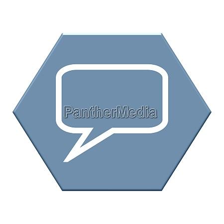 blauer sechskantknopf mit kontakt hilfe oder