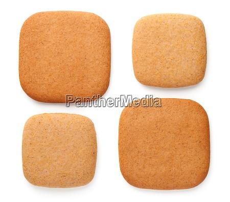 lebkuchen cookies in form von quadraten