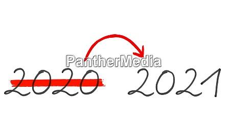 jahr 2020 und 2021 handschriftlicher