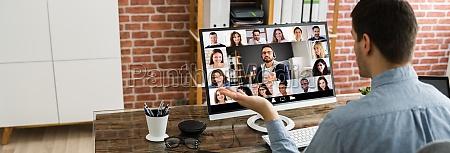 webinar videokonferenzen auf dem computer