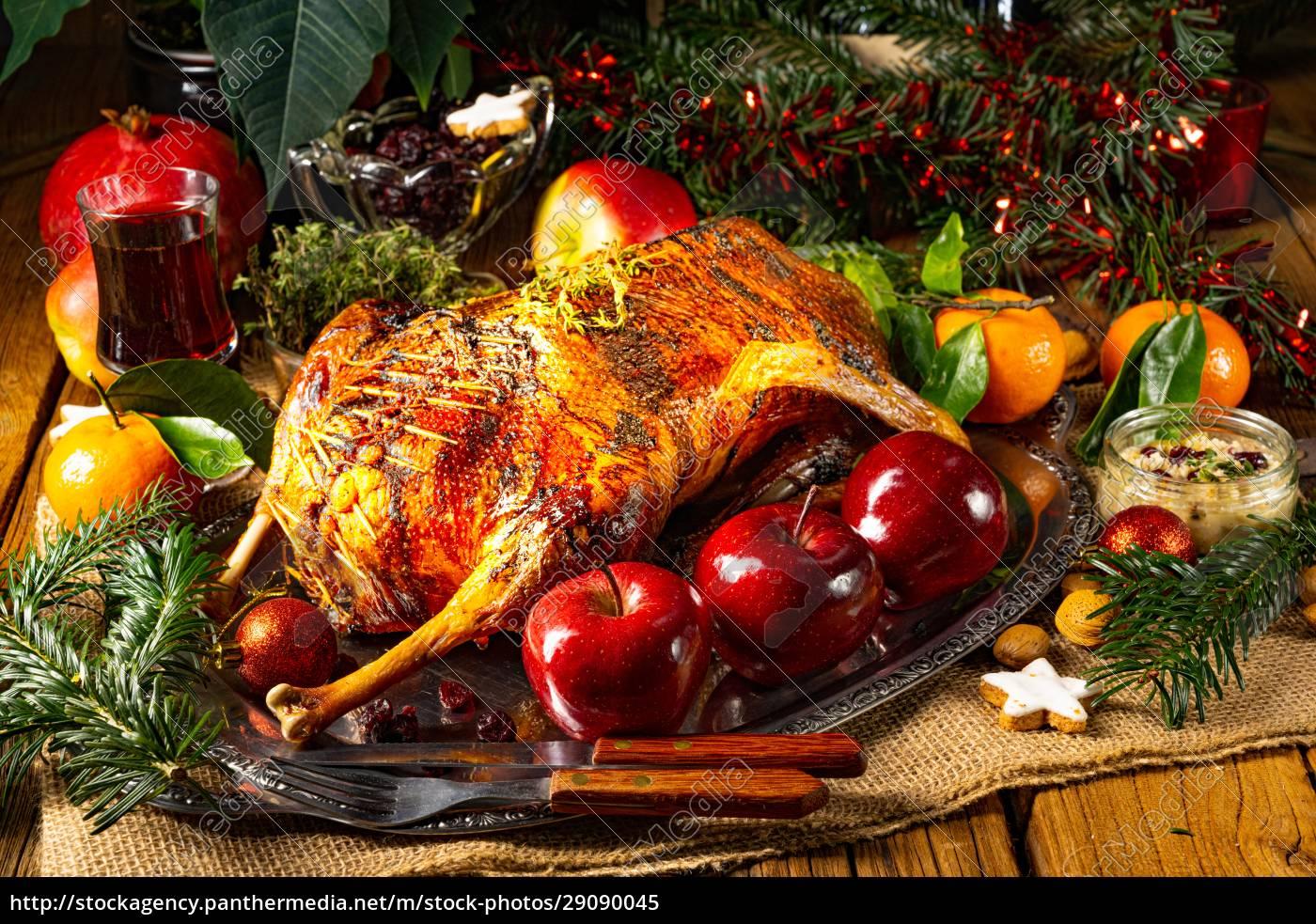 zarte, &, saftige, weihnachtsgans, mit, knuspriger - 29090045