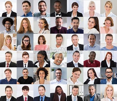 multikulturelle gesichter foto collage portraet