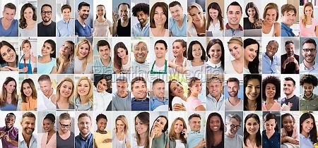 diverse menschen gesicht