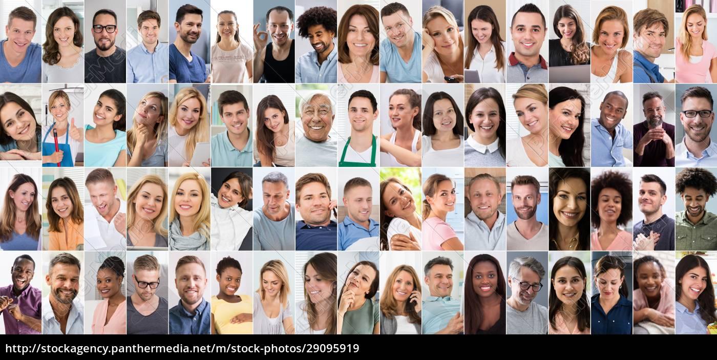 diverse, menschen, gesicht - 29095919