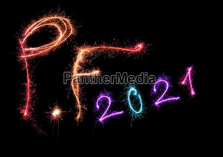 pf pour feliciter 2021 aus funkelnden