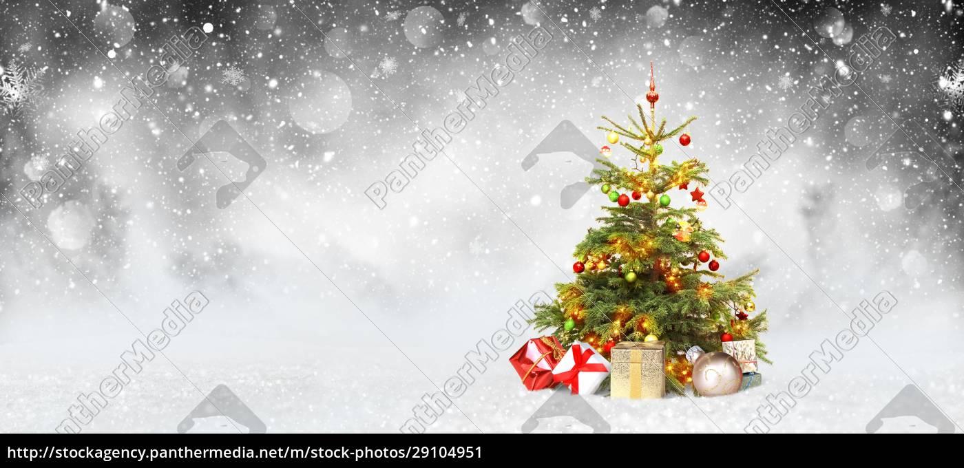 winter-hintergrund-design-konzept, mit, christmans, baum - 29104951