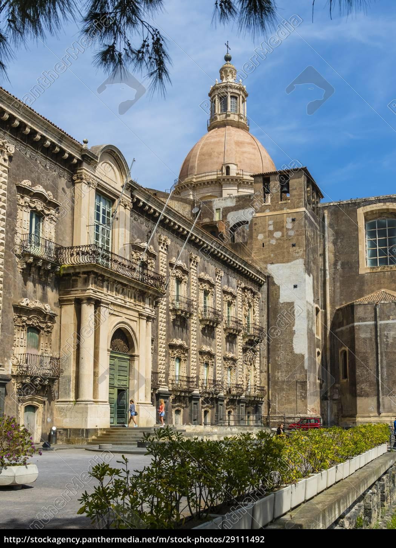 italien, sizilien, catania, universität, bibliothek - 29111492