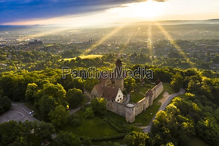 germany, , bavaria, , bamberg, , helicopter, view, of - 29113181