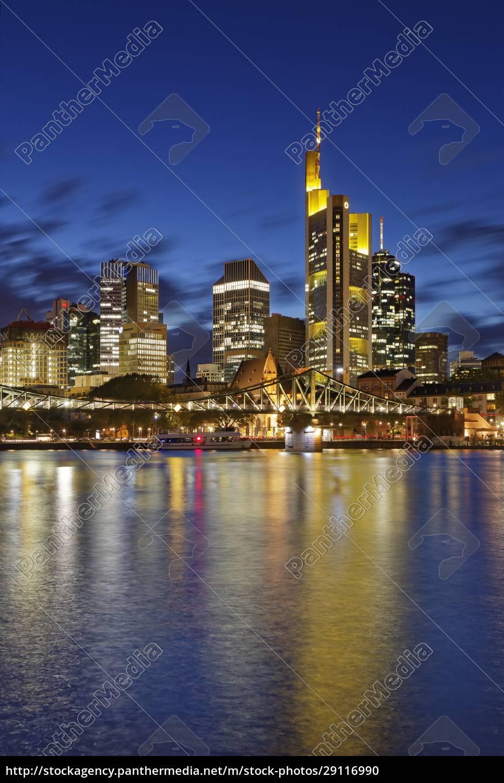 deutschland, hessen, frankfurt, skyline, des, finanzviertels, mit, ignatz, bubis - 29116990