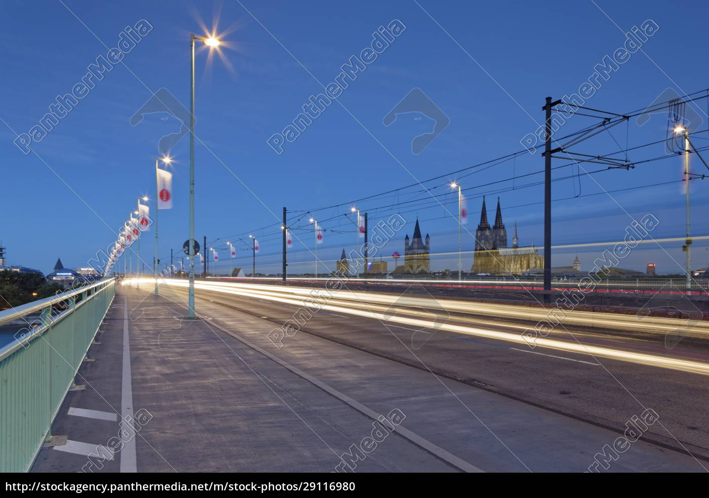 germany, , cologne, , lighted, severinsbruecke - 29116980