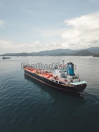 indonesien bali luftaufnahme des OEltankers