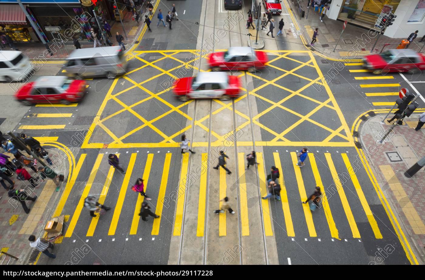 china, , hong, kong, , people, crossing, road - 29117228