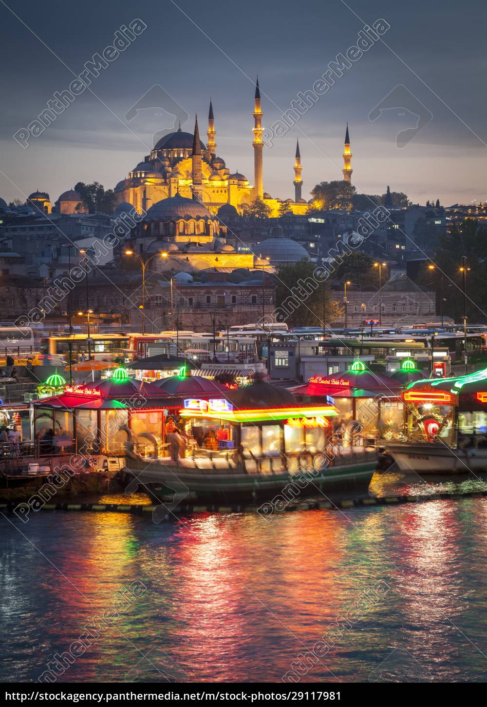 turkey, , istanbul, , view, to, eminonu, harbor - 29117981