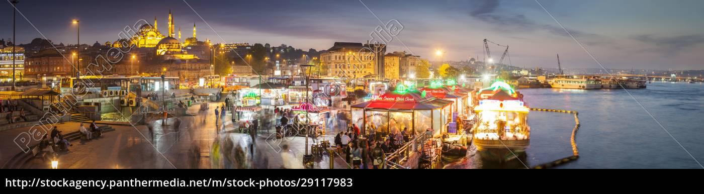 turkey, , istanbul, , view, to, eminonu, harbor - 29117983