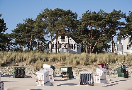 germany, , usedom, , bansin, , hooded, beach, chair - 29121346