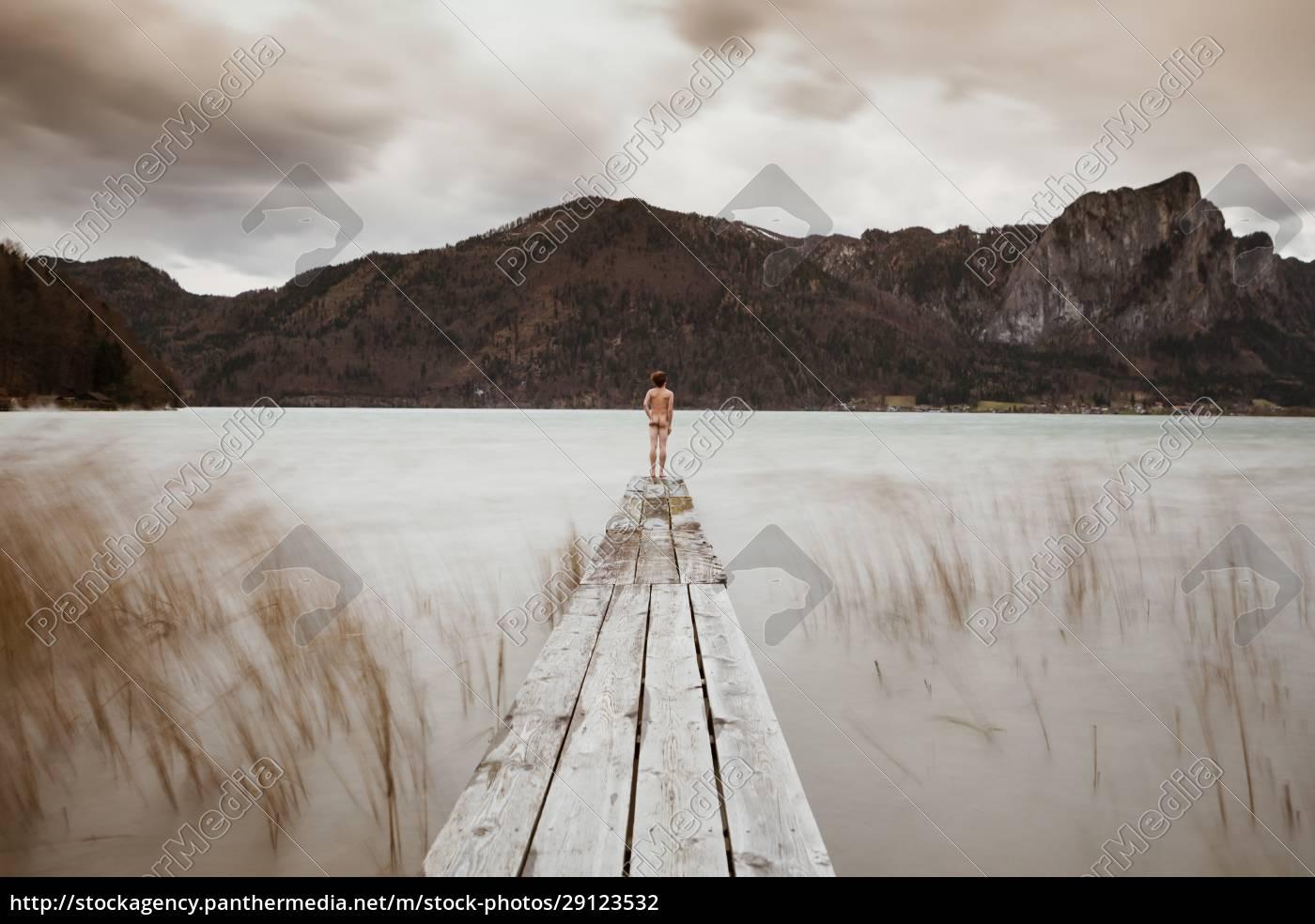 austria, , lake, mondsee, , rear, view, of - 29123532