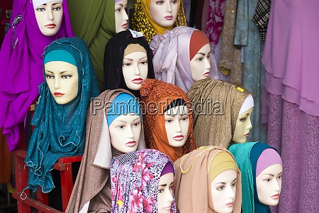 indonesia, , belitung, , headscarfs, in, a, clothing - 29123058