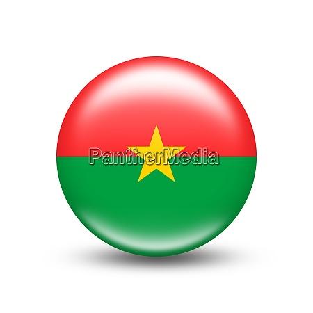 burkina faso landflagge in kugel mit