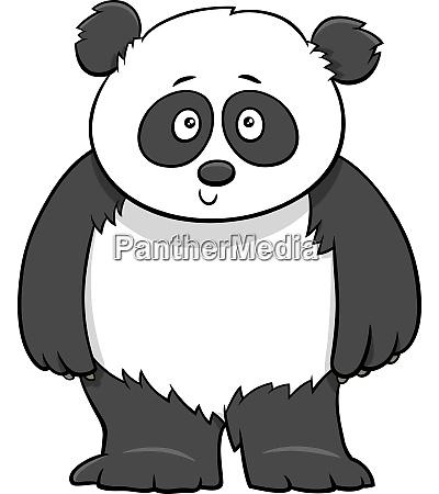 suesse baby panda cartoon illustration