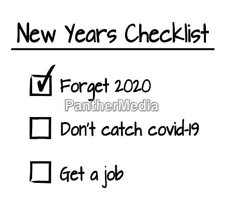 lustige neue jahre checkliste