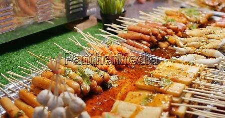 skewer, in, thailand, street, market - 29194940