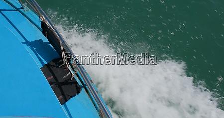 wasserwelle von motor kreuzfahrtschiff