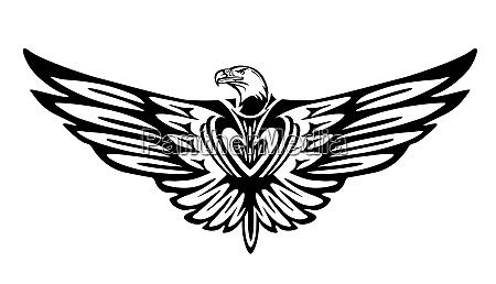 adlergrafik vogelsymbol isoliert