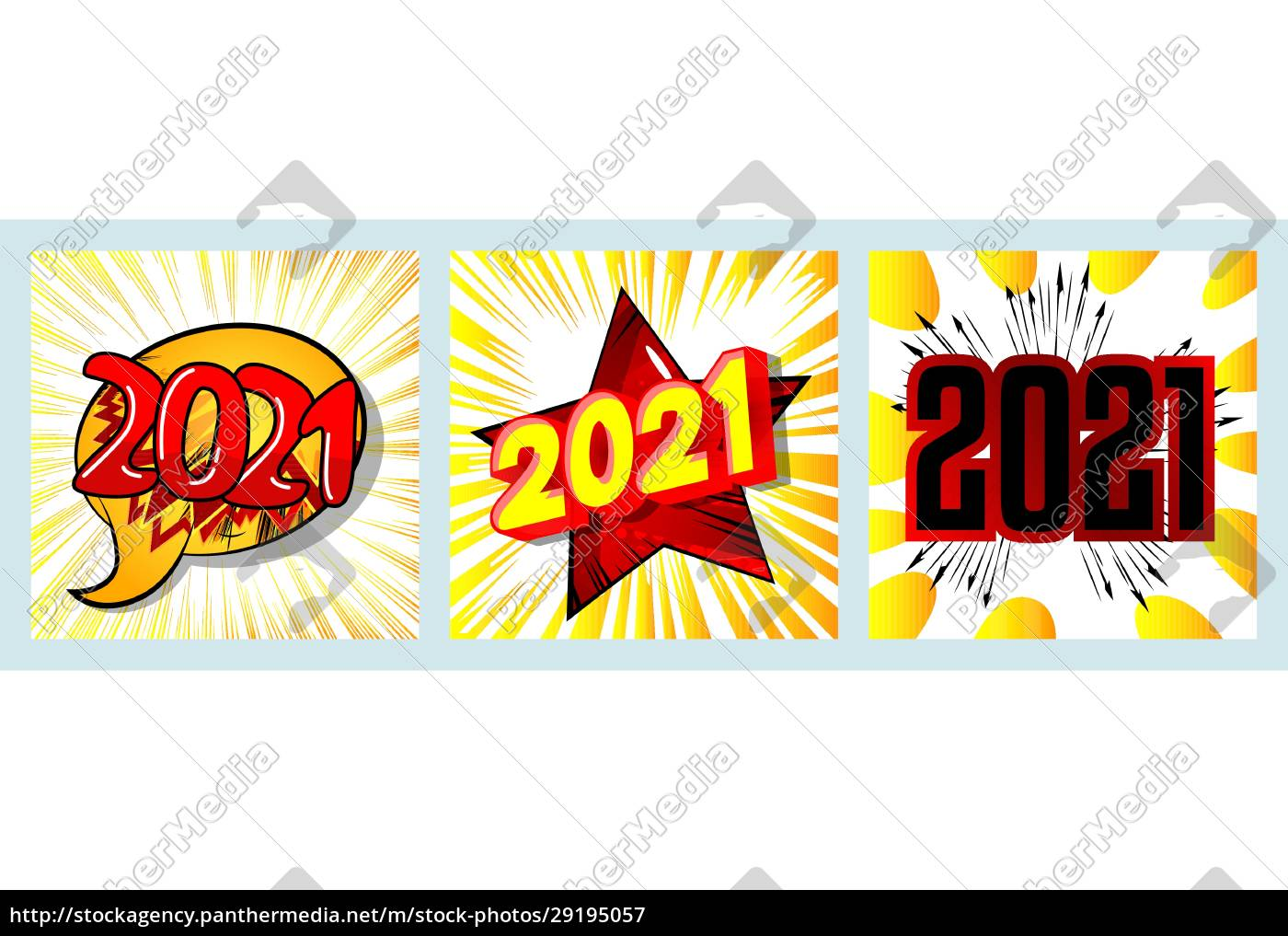 creative, happy, new, year, 2021, greeting - 29195057