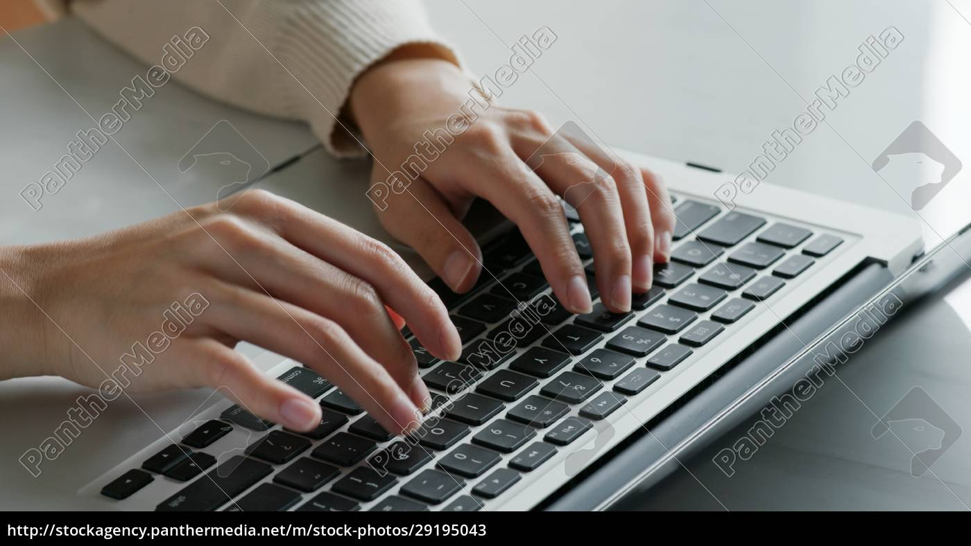 type, on, laptop, computer, , work, from - 29195043