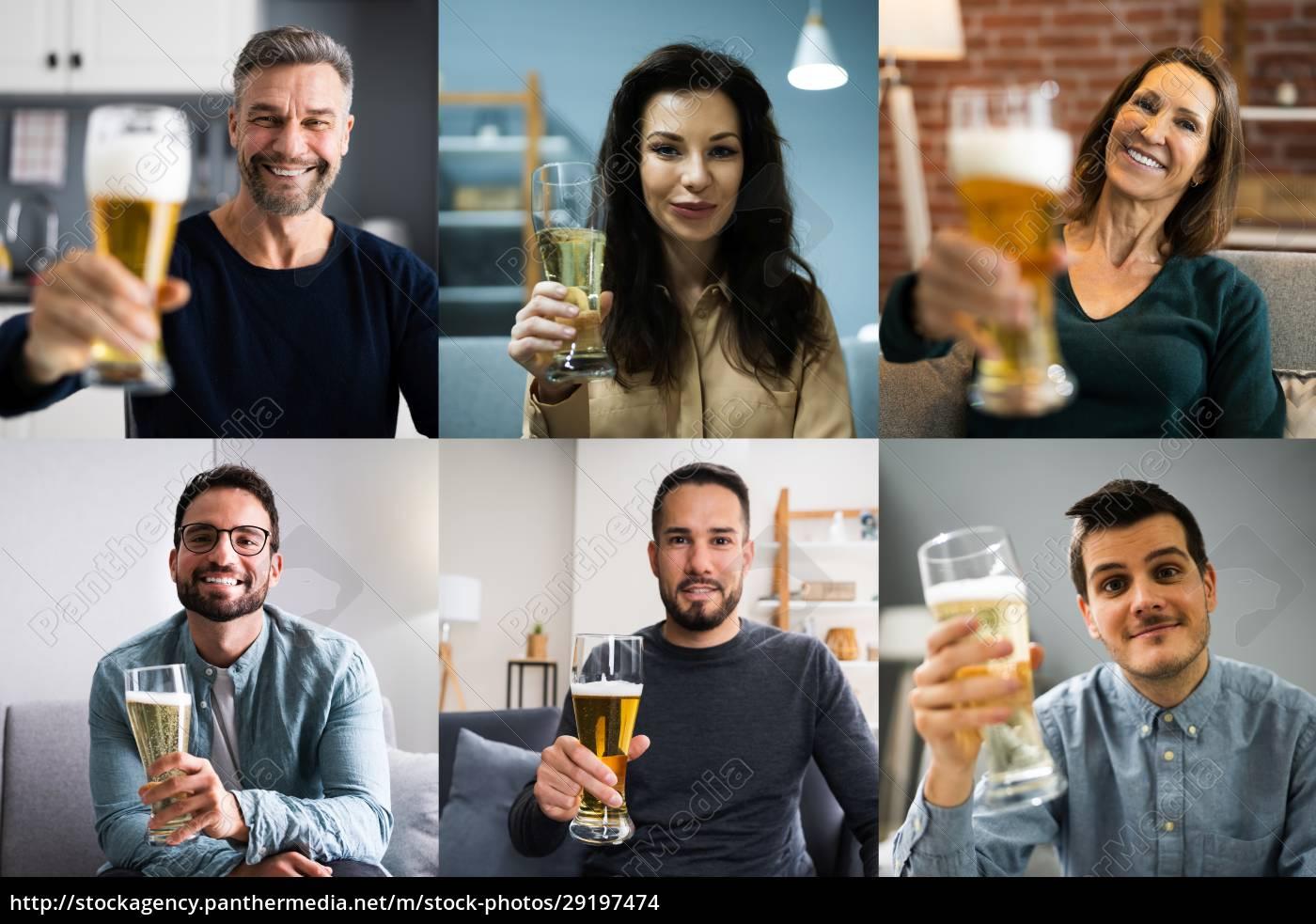 virtual, beer, drink, online, party - 29197474