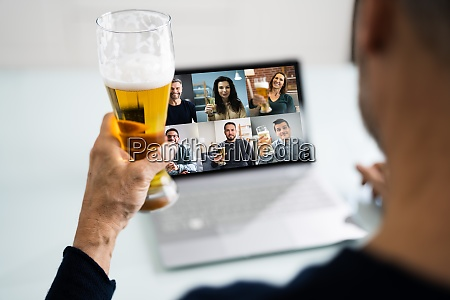 virtual, beer, drink, online, party - 29197499