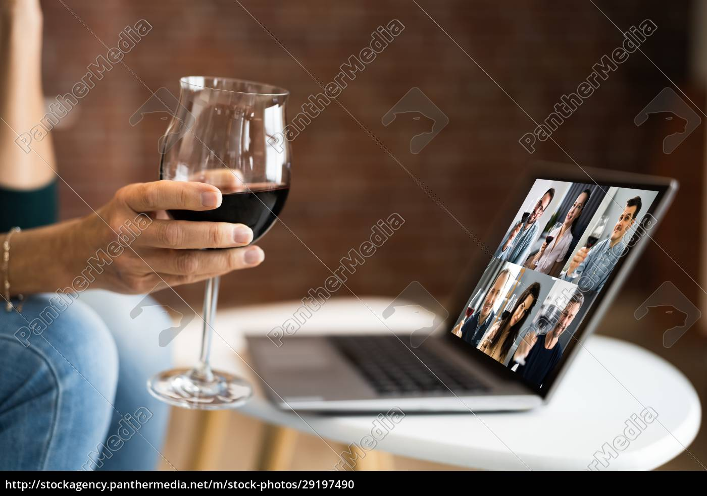 virtual, wine, tasting, dinner, event, online - 29197490
