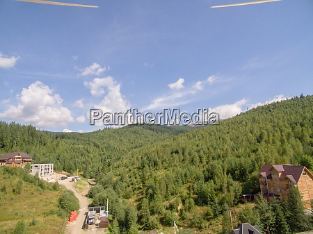 green, mountaines., aerial, photo, above, private - 29204813