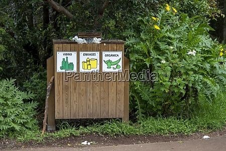 abfalltrennung im naturreservat la laguna grande